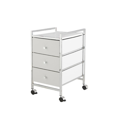 3 Drawer Cabinet Trolley White