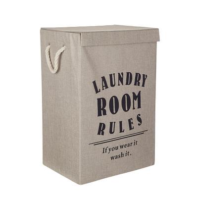 Laundry Room Rules Clothes Hamper