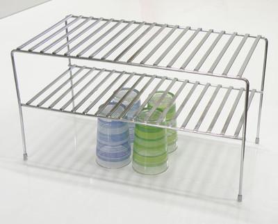 2 Tier Flat Wire Chrome Shelf
