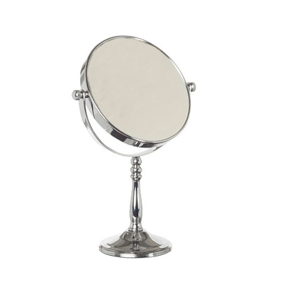 Chrome Ball Pedestal Mirror 5x Magnification