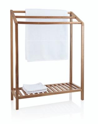 Acacia Wood Towel Rack