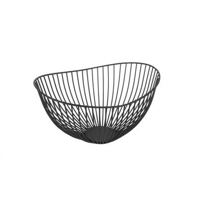 Wire Oval Fruit Basket  - Black