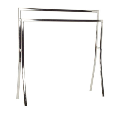 2 Rail Wide Towel Rack Chrome