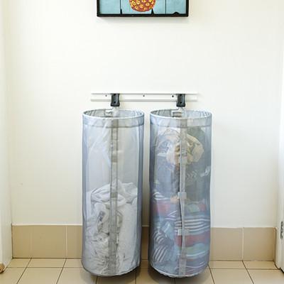 elfa Custom Washing Basket Solution