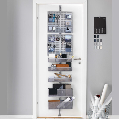 elfa Custom Platinum Office Utility Solution