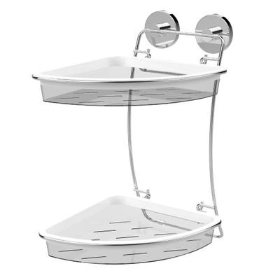 EvoVac Vacuum Fusion Technology Xpressions Suction Bathroom Double Corner Basket