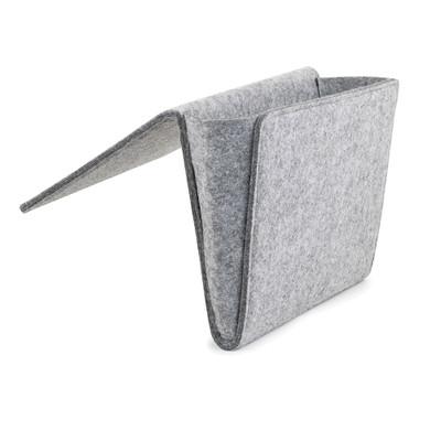 Bedside Felt Pocket Caddy - Grey