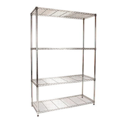 easy-build 4 Shelf Unit 180cm - Silver