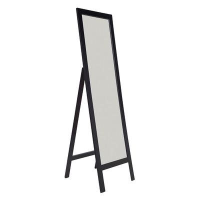 Black Bevelled Edge Freestanding Mirror