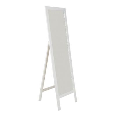 White Bevelled Edge Freestanding Mirror