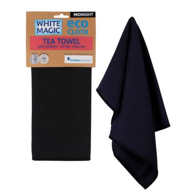 White Magic Eco Cloth Tea Towel - Midnight