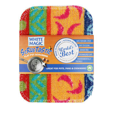 White Magic Scrubtastic Flat Pot Scrubber