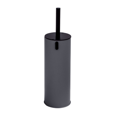 Toilet Brush Holder with Lockable Lid - Charcoal