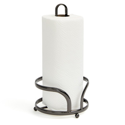 Black Onyx Kitchen Paper Towel Holder with Flat Band