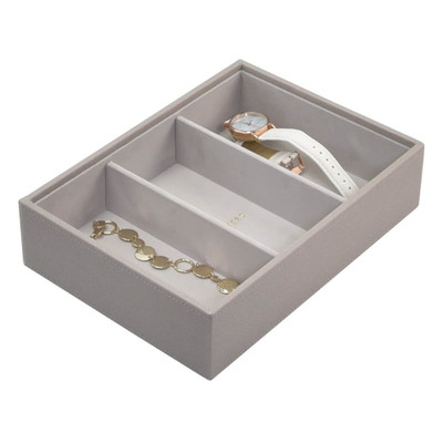 Stackers Classic Jewellery Box Tray 3 Deep Compartment - Taupe