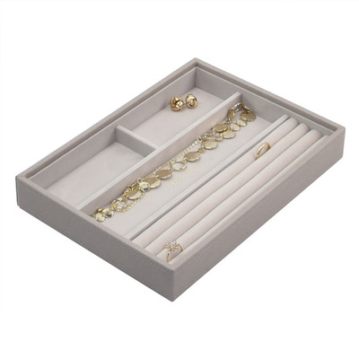 Stackers Classic Jewellery Box Tray 4 Compartment - Taupe