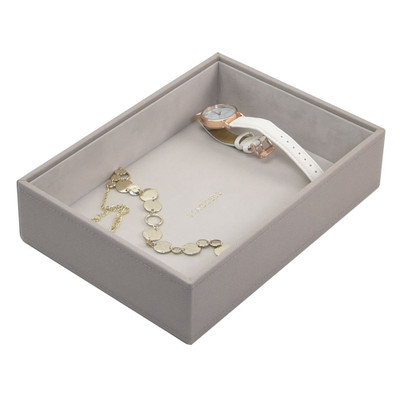 Stackers Classic Jewellery Box Tray 1 Deep Compartment - Taupe