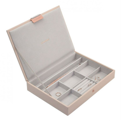 Stackers Classic Jewellery Box with Lid - Blush