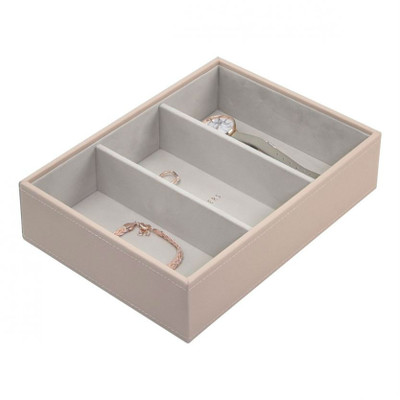 Stackers Classic Jewellery Box Tray 3 Compartment - Blush