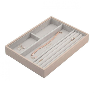 Stackers Classic Jewellery Box Tray 4 Compartment - Blush