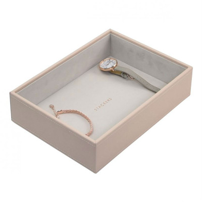 Stackers Classic Jewellery Box Tray 1 Deep Compartment - Blush