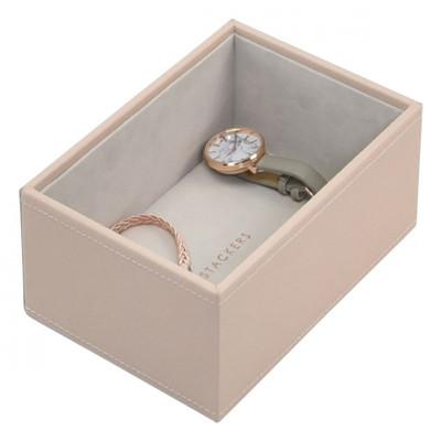 Stackers Mini Jewellery Box Tray 1 Deep Compartment - Blush