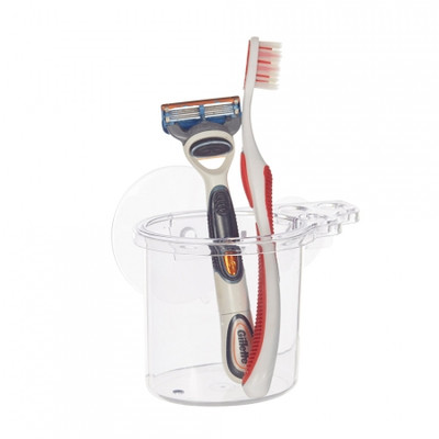 iDesign Classic Suction Toothbrush Centre