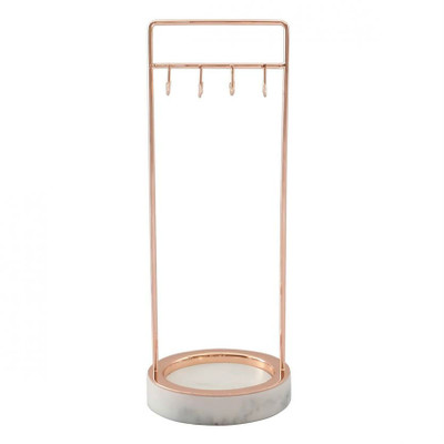 Stackers Jewellery 8 Hook Stand - Rose Gold/Marble