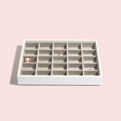 Stackers Classic Jewellery Box Tray 25 Compartment - White