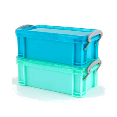 Howards Set of 2 Plastic Storage Boxes with Lids Small 300ml - Blue/Aqua
