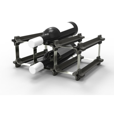 NOOK 3 Pocket Wine Rack Starter - Black