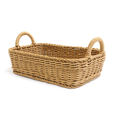 IconChef Woven Food Safe Rectangular Basket with Handle - Small