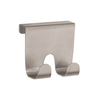 iDesign Over-The-Cabinet Double Hook - Stainless Steel