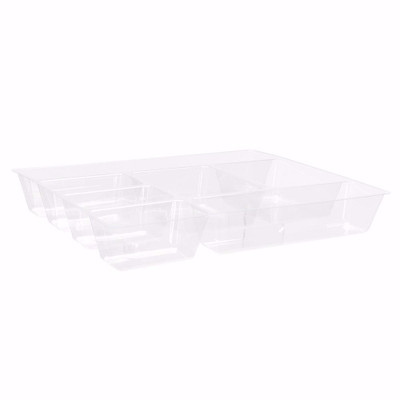Clear 7 Compartment Tray Divider for Elfa Drawers