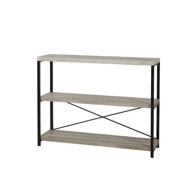 Howards Manhattan Modern Accent 3 Tier Wide Open Shelf Storage Unit