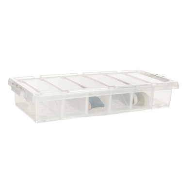 Howards Easi Store 6 Compartment Shoe Underbed Box With Wheels