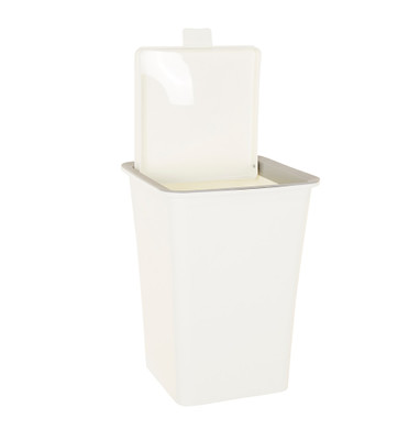 Howards Small Counter Top Rubbish Bin - White