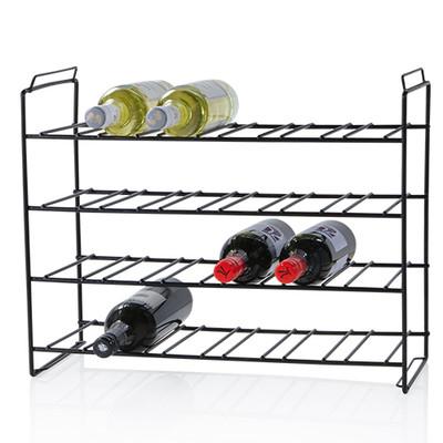 Howards Black 24 Bottle Stackable Wine Rack