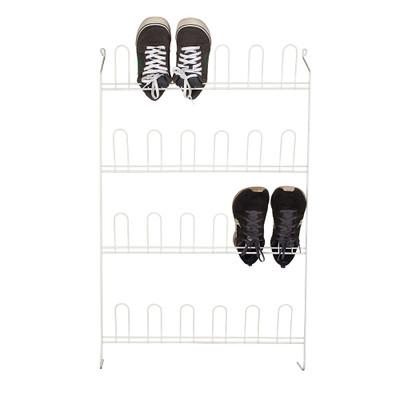 Howards 12 Pair Shoe Rack White