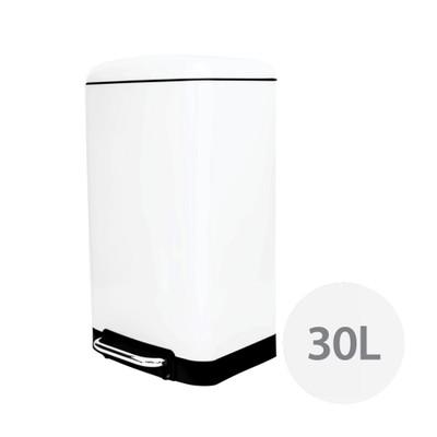 Howards Soft Close Pedal Waste Bin 30L - White