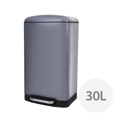 Howards Soft Close Pedal Waste Bin 30L - Grey
