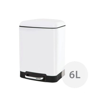 Howards Soft Close Pedal Waste Bin 6L - White