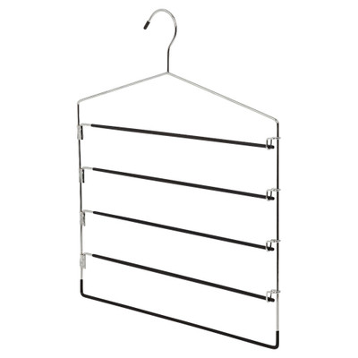 Howards Metal 5-Tier Lockable Trouser Hanger - Black