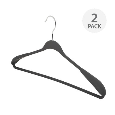 Howards Wide Shoulder Grip Hanger 2 Pack - Grey