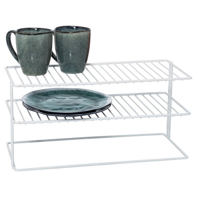 Howards Wire 2-Tier Cabinet Shelf - White