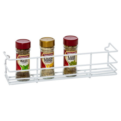 Howards Wire Wall Mountable Spice Rack Small - White