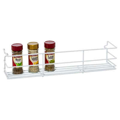Howards Wire Wall Mountable Spice Rack Large - White