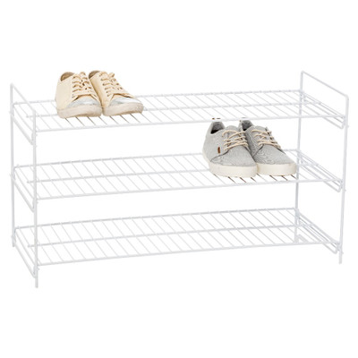 Howards Wire 3-Tier Shoe Rack - White
