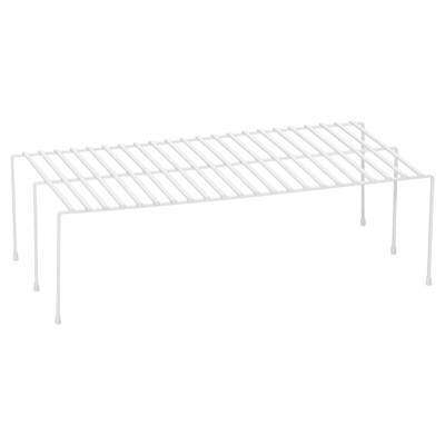 Howards Powder Coated Wire Cabinet Shelf Large - White