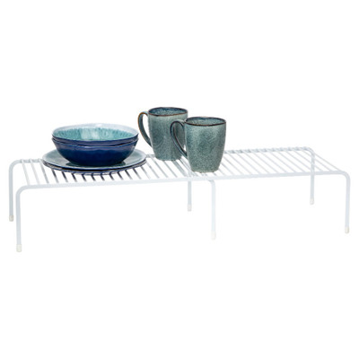 Howards Powder Coated Wire Extendable Cabinet Shelf - White